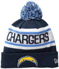 NFL San Diego Chargers Biggest Fan Redux Beanie Acrylic outer with Fleece  lining for added warmth New Era Pom Pom Cuff Knit Fashion Knit 7467cf31c