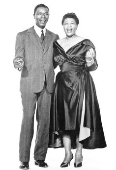 Fashion Ideas King with her Majesty Ella Nat King Cole and Ella Fitzgerald Jazz Artists, Jazz Musicians, Music Artists, Black Artists, Nate King Cole, Nat King, Ella Fitzgerald, First Ladies, Music Icon