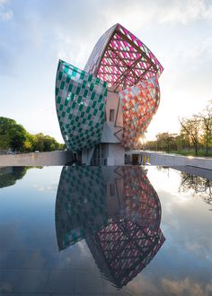 Observatory of Light by Daniel Buren, Fondation Louis Vuitton Credit: LVMH/Glass Deezen