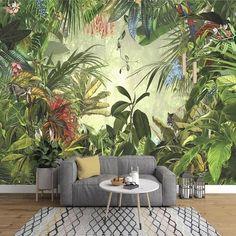 Rainforest Wallpaper Wallpaper Mural Jungle Wallpaper   Etsy