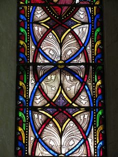 Stained glass windows in Afghan Church in Colaba, Mumbai. [personal photo]