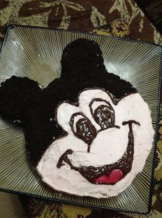 ON MY SON'S DEMAND...MICKEY MOUSE CAKE
