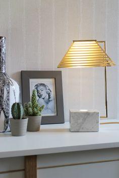 Contorno Lamp By Studio Jolanda van Goor. 2016 Brass, Marble and LED Light
