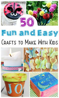 50 fun and easy recycled crafts that you can make with kids any time or to celebrate earth day! Lots of options using natural or recycled material to make easy sustainable craft projects. Perfect for girl scouts or boy scouts. Easy Crafts To Make, Easy Arts And Crafts, Arts And Crafts Projects, Arts And Crafts Supplies, Diy Home Crafts, Projects For Kids, Fun Crafts, Simple Crafts, Summer Crafts