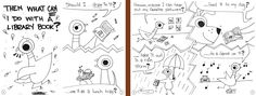 Don't Let the Pigeon Ruin the Library Book! printable coloring book