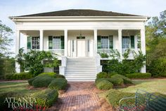 Nineteenth-century bricks lead to the period house restored by Atlanta architect Rick Spitzmiller of Spitzmiller