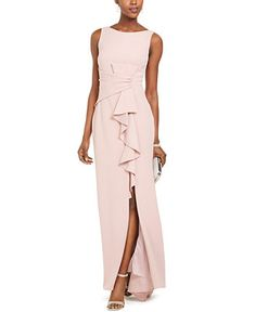 Betsy & Adam Ruffle-Detail Gown & Reviews - Dresses - Women - Macy's Brides Mom Dress, Summer Mother Of The Bride Dresses, Mother Of The Bride Fashion, Mother Of Bride Outfits, Mother Of Groom Dresses, Mothers Dresses, Long Mothers Dress, Grooms Mom Dress, Mother Bride