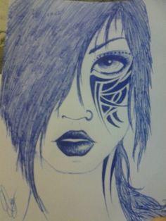 Un dibujo hecho hace unos años con bolígrafo :)