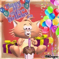 Happy Birthday, Geburtstag, Katze, Torte Sam Cannon, Photo Frame Design, Birthday Wishes, Birthday Gifs, Star Painting, Chuck Wagon, Happy Birthday Images, Betty Boop, Bowser