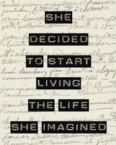 She Decided to Start Living the Life She Imagined by MursBlanc