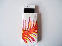 Phone sleeve for iPhone 5 and 5S pink and orange phone by byvala, €5.00