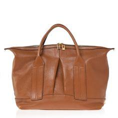 Cast Away in Cognac Pebbled Leather | Joanna Maxham