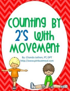 Counting By 2's With Movement - Game to engage students while learning to count by 2's with movement!  Students learn well when they are engaged and moving!