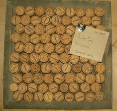 Creative Reuse 2008: Wine Corks and Salvaged Wood as Cork Board