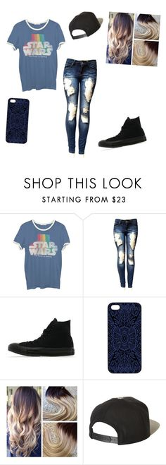 """GEEK"" by walkerfamliybunch ❤ liked on Polyvore featuring Junk Food Clothing, Converse, Samantha Warren London and Brixton"