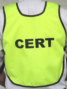 Bright safety pull over CERT vest by TheVestGuy.com Custom made in the USA and backed by a lifetime warranty