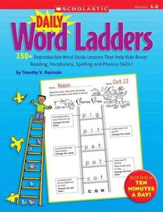 Students climb to new heights in reading and writing with these fun, engaging, reproducible word-building games! Students read clues on each rung, then change and rearrange letters to create words unt