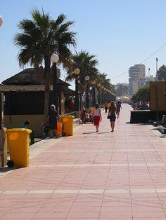 Estepona    Walking down the promenade