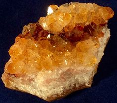 Brilliant Red to Orange Citrine Quartz Crystals on Chalcedony Matrix from Uruguay by GEMandM on Etsy https://www.etsy.com/listing/258723361/brilliant-red-to-orange-citrine-quartz