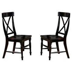 Roanoke X-Back Side Chair Wood/Black Rubbed (Set of 2) - Imagio Home : Target