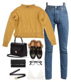 """Sem título #5162"" by fashionnfacts ❤ liked on Polyvore featuring Vetements, Topshop, Gucci, Anine Bing and STELLA McCARTNEY"