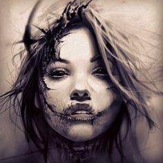 """ถูกใจ 2,001 คน, ความคิดเห็น 55 รายการ - David García (@davidgarciart) บน Instagram: """"Creepy death #art #artcollective #tattoo #tenerife #tattooedgirl #ink #inked #inkedgirl #scary…"""""""
