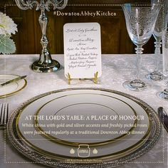 Downton Abbey table setting