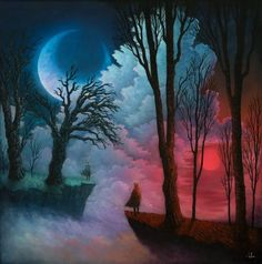 Andy Kehoe Windows To Fantastical Worlds And Fairytale Creatures With A Stunning Prismatic Effect  #andykehoe #art #color #fairytale #painting #prismatic