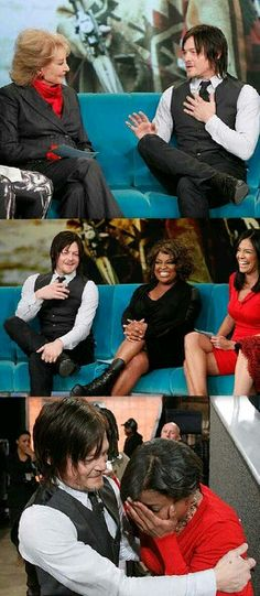 Norman Reedus on the view