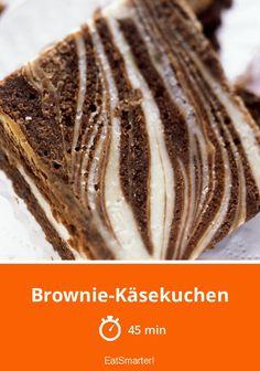 Brownie Cheesecake - plus intelligent - durée: 45 min. Cheesecake Brownies, Cheesecake Desserts, No Bake Desserts, Delicious Desserts, Blondies Cookies, Blondie Brownies, Blueberry Recipes, Cookie Dough, Bakery