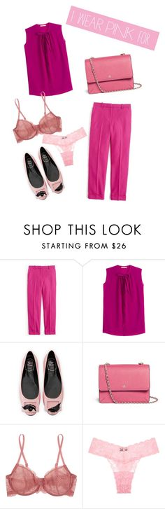 """""""Untitled #29"""" by uniquemix ❤ liked on Polyvore featuring J.Crew, Etro, Roger Vivier, Tory Burch, Cosabella and IWearPinkFor"""