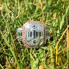 Simon G Mosaic Collection Diamond Engagement Ring 18K Antique Diamond Rings, Antique Engagement Rings, Solitaire Engagement, Diamond Jewelry, Gemstone Jewelry, Jewelry Design, Designer Jewelry, Fine Jewelry, Jewellery