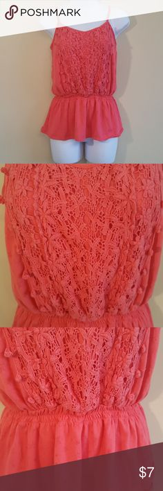 Wet Seal crochet detail top EUC. Smoke and get free home. No stains or rips. Elastic band around waist area. Measurements are approximate.  Length- Bust- Waist- Wet Seal Tops