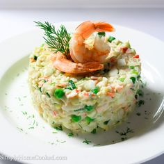 Have you ever had to bring some kind of dish to a last minute party or get together? And on top of that, you have absolutely no time to cook anything. Well this crab and shrimp salad might be your life saver in this kind of situation. No cooking required! Just chop, chop, chop and