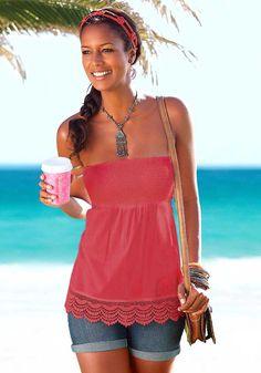 Bandeau topp S. Off Shoulder Blouse, One Shoulder, Shopping, Tops, Women, Fashion, Moda, Fashion Styles, Fashion Illustrations