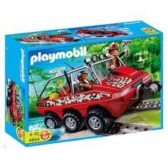 Véhicule amphibie avec explorateurs  - marque : PLAYMOBIL Un véhicule amphibie pour les explorateurs Playmobil pour réjoindre le temple du trésor !... prix : 25,90 €  chez Jeprogresse.com #PLAYMOBIL #Jeprogresse.com