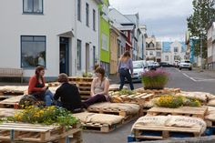Public square in Reykjavik, 2012 #island #temporary #place_making