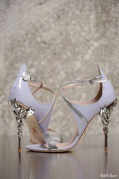Ralph Russo Wedding Shoes   Deer Pearl Flowers