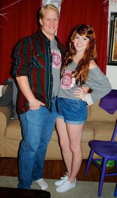 90's Couple Halloween Costume - Kelly Kapowski and Zack Morris (Saved by the Bell)