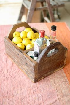 Kalalou Recycled Wooden Trug With Side Handles