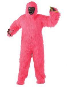 6fa922c6e2 Pink Gorilla Adult Costume - Standard (One Size)