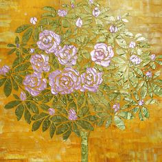 Painting Flowers Tree Original Large Textured by: http://www.etsy.com/shop/NewModernArt