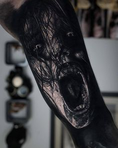 Evil Spirit Tattoo horror tattoo evil spirit More from my site 160 Skull Tattoos – Best Tattoos, Designs, and Ideas gitranegie Evil Tattoos, Creepy Tattoos, Badass Tattoos, Skull Tattoos, Black Tattoos, Body Art Tattoos, Hand Tattoos, Tattoos For Guys, Horror Tattoos