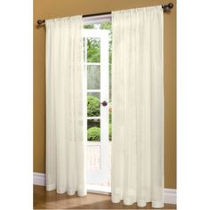 Insulated Sheer Curtains ($40) via Polyvore