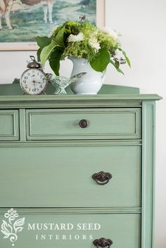 Lucketts Green dresser | miss mustard seed @missmustardseed