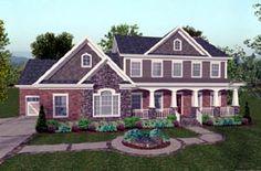 House Plan 92392 | Craftsman Plan with 2697 Sq. Ft., 4 Bedrooms, 5 Bathrooms, 3 Car Garage