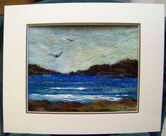 No.679 The Blues Needlefelt Art XLarge by Deebs on Etsy
