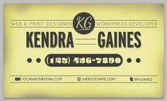 vintage retro business card design 1