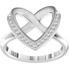 Swarovski Cupidon Ring - silver