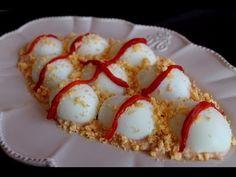 Huevos rellenos de atún y salsa rosa sin lactosa
